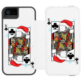 Merry Christmas King of Clubs - Add Your Images Incipio Watson™ iPhone 5 Wallet Case