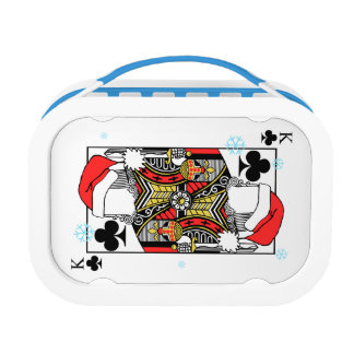 Merry Christmas King of Clubs - Add Your Images Lunch Box