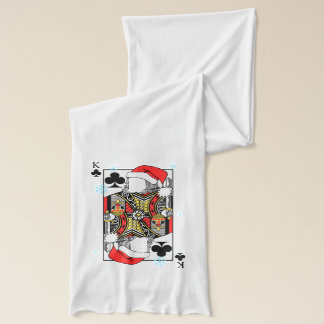Merry Christmas King of Clubs - Add Your Images Scarf