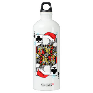 Merry Christmas King of Clubs - Add Your Images Water Bottle