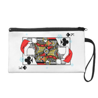 Merry Christmas King of Clubs - Add Your Images Wristlet