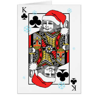 Merry Christmas King of Clubs Card