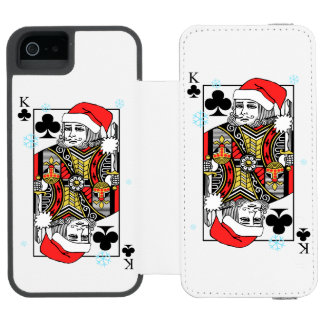 Merry Christmas King of Clubs Incipio Watson™ iPhone 5 Wallet Case