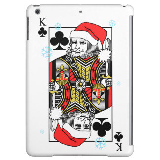 Merry Christmas King of Clubs iPad Air Covers