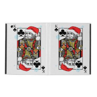 Merry Christmas King of Clubs iPad Folio Case