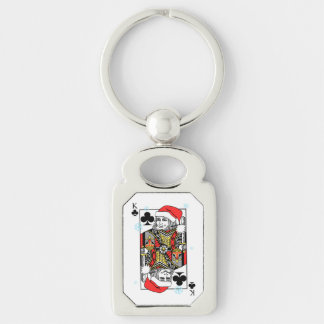 Merry Christmas King of Clubs Keychain