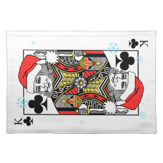 Merry Christmas King of Clubs Placemat