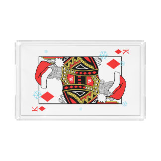 Merry Christmas King of Diamonds - Add Your Images Acrylic Tray