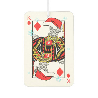 Merry Christmas King of Diamonds - Add Your Images Car Air Freshener