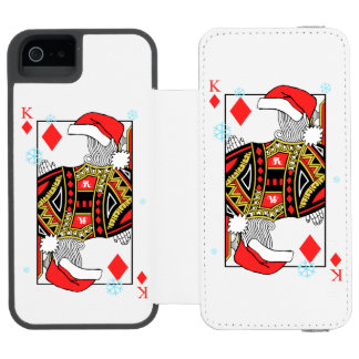 Merry Christmas King of Diamonds - Add Your Images Incipio Watson™ iPhone 5 Wallet Case