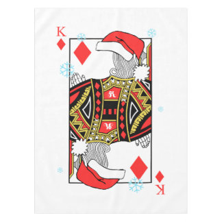 Merry Christmas King of Diamonds - Add Your Images Tablecloth