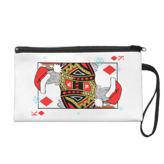 Merry Christmas King of Diamonds - Add Your Images Wristlet