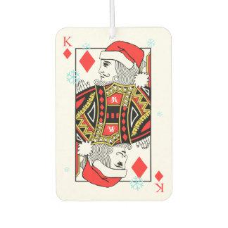 Merry Christmas King of Diamonds Air Freshener