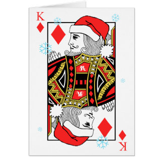 Merry Christmas King of Diamonds Card