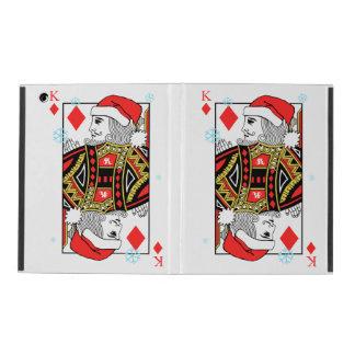 Merry Christmas King of Diamonds iPad Folio Case