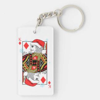 Merry Christmas King of Diamonds Keychain