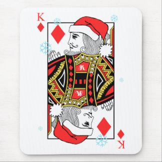 Merry Christmas King of Diamonds Mouse Pad