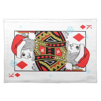 Merry Christmas King of Diamonds Placemat
