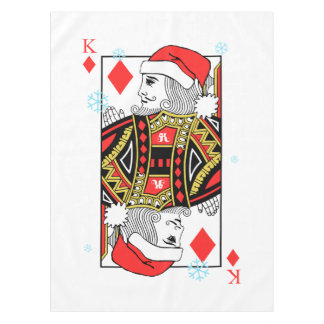 Merry Christmas King of Diamonds Tablecloth