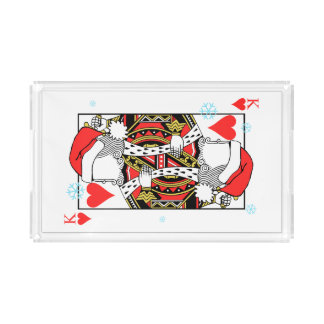Merry Christmas King of Hearts - Add Your Images Acrylic Tray