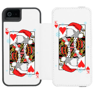 Merry Christmas King of Hearts - Add Your Images Incipio Watson™ iPhone 5 Wallet Case