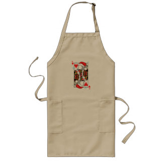 Merry Christmas King of Hearts - Add Your Images Long Apron