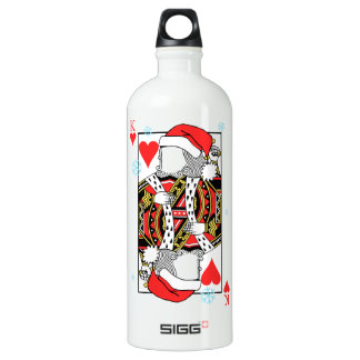 Merry Christmas King of Hearts - Add Your Images Water Bottle
