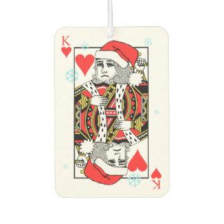 Merry Christmas King of Hearts Car Air Freshener