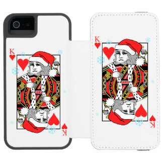 Merry Christmas King of Hearts Incipio Watson™ iPhone 5 Wallet Case