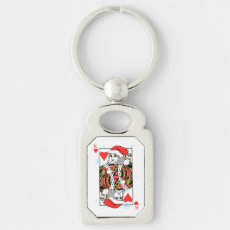 Merry Christmas King of Hearts Keychain