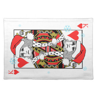 Merry Christmas King of Hearts Placemat