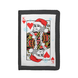 Merry Christmas King of Hearts Tri-fold Wallets