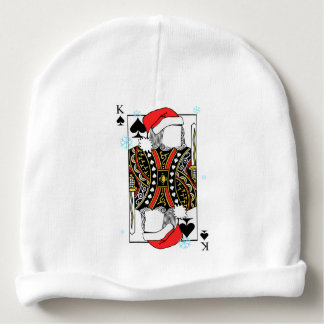 Merry Christmas King of Spades - Add Your Images Baby Beanie