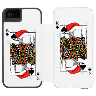 Merry Christmas King of Spades - Add Your Images Incipio Watson™ iPhone 5 Wallet Case