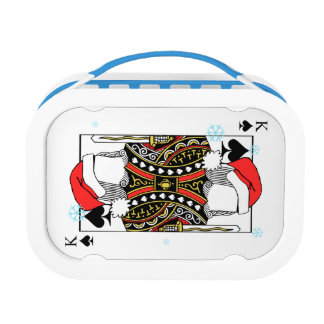 Merry Christmas King of Spades - Add Your Images Lunch Box