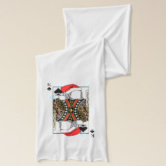 Merry Christmas King of Spades - Add Your Images Scarf