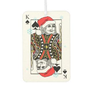 Merry Christmas King of Spades Car Air Freshener