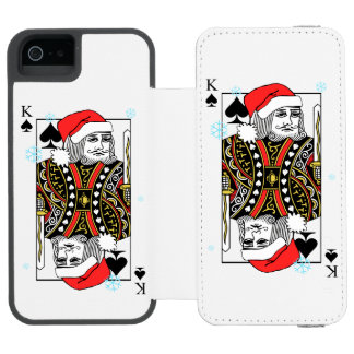 Merry Christmas King of Spades Incipio Watson™ iPhone 5 Wallet Case
