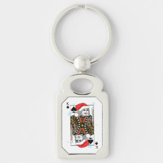 Merry Christmas King of Spades Keychain