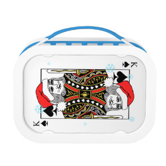 Merry Christmas King of Spades Lunch Box