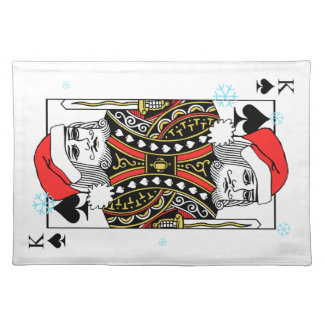 Merry Christmas King of Spades Placemat