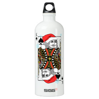 Merry Christmas King of Spades Water Bottle