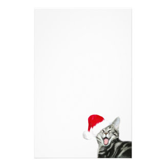 Merry Christmas kitten Stationery