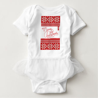 Merry Christmas Knitted Baby Bodysuit