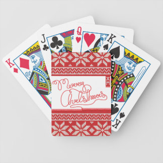 Merry Christmas Knitted Bicycle Playing Cards