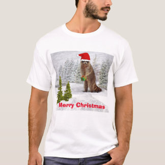 Merry Christmas l Funny Raccoon T-Shirt