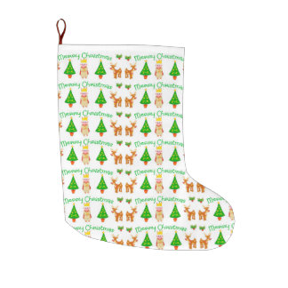 Merry Christmas Large Christmas Stocking