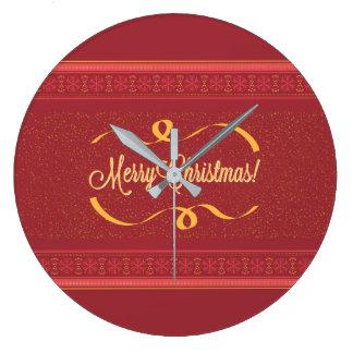 Merry Christmas Large Clock