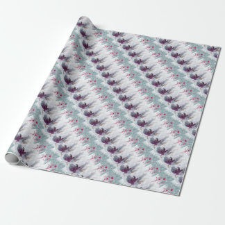 Merry Christmas letter snowing Wrapping Paper