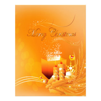 Merry christmas letterhead design